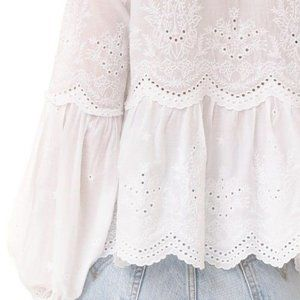 Ulla Johnson Lucie Blouse embroidered eyelet top